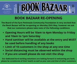BOOK BAZAAR REOPENING