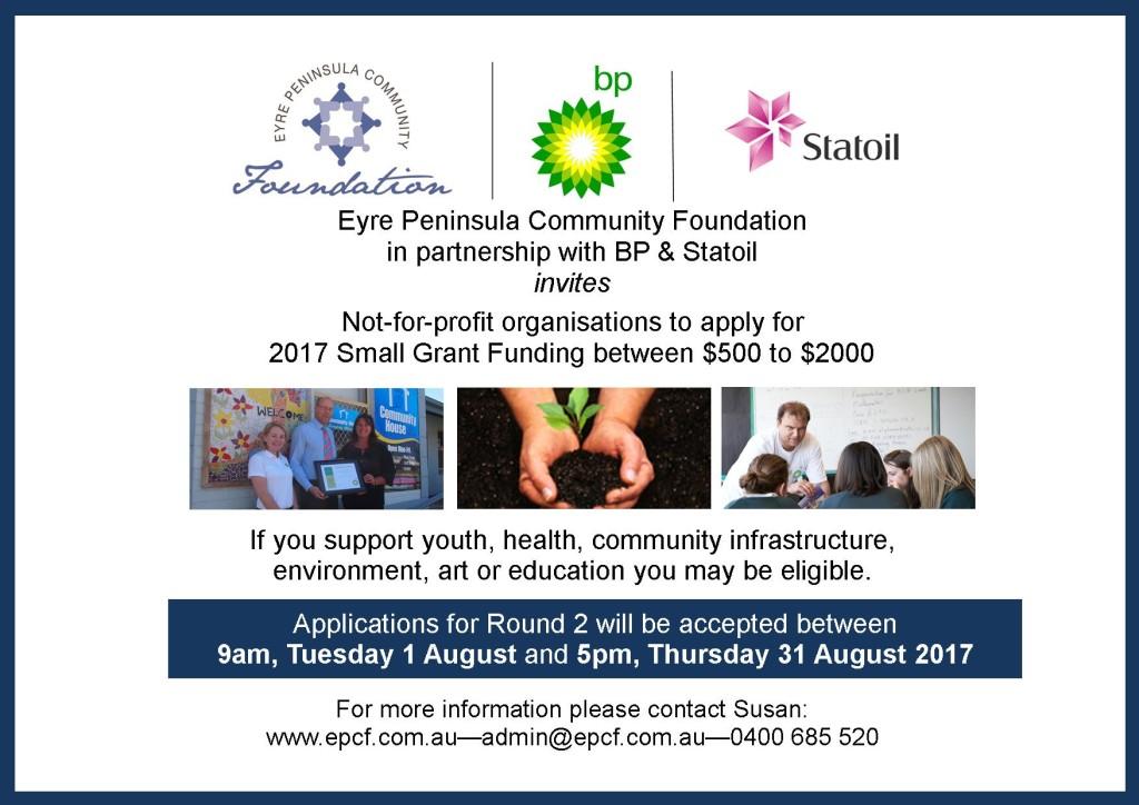 EPCF BP & Statoil 2017 Grant R2